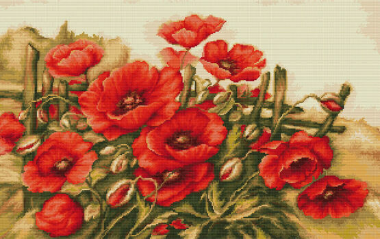 Field of Poppies Cross Stitch Kit