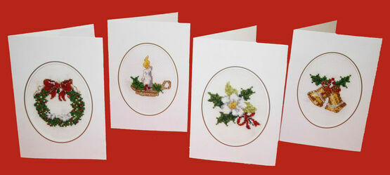 Christmastide Cross Stitch Christmas Card Kits (Set of 4)