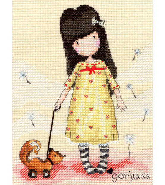 Gorjuss The Pretend Friend Cross Stitch Kit