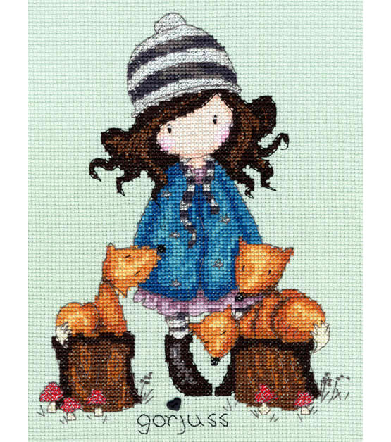 Gorjuss The Foxes Cross Stitch Kit