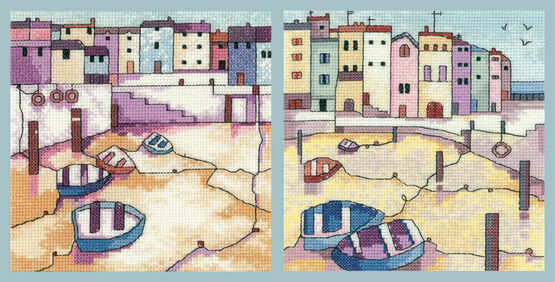 Set Of 2 - Quiet Moorings & Morning Calm Cross Stitch Kits