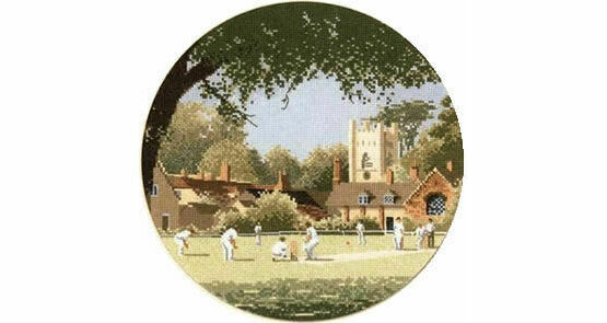 Sunday Cricket Cross Stitch Chart Kit