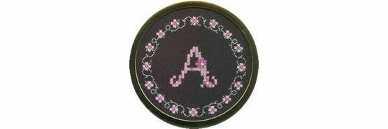 Handbag Mirror Cross Stitch Kit - Initials