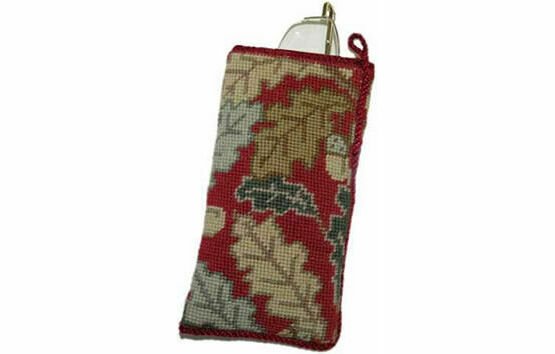 Red Acorn Tapestry Glasses Cross Stitch Case Kit